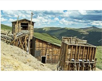 Santiago Mine, Colorado Rockies, Rocky Mountains, Historic Mine, Mining, Buildings, Gold, Silver, Argentine Pass, Waldorf Colorado, Geology