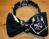 """Darth Vader Bow Tie, Bowtie, Star Wars, """"the Vader"""", D.O.A. Bow Ties (Dapper On Arrival) adjustable, freestyle, self-tie or pre-tied"""