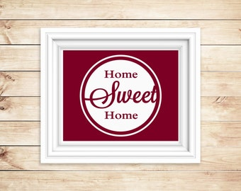 Home sweet home wall art - Home decor instant download