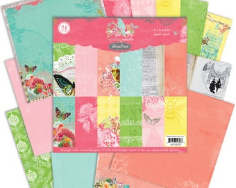 """Pink Paislee Spring Jubilee Collections 6""""x6"""" Paper Pad Paper Pack"""