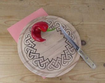 bread Board with Celtic hearts-possible personalised