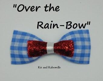 Over the Rain-Bow Hair Bow
