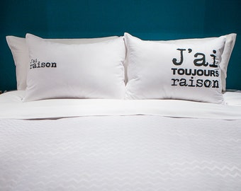 Pillow decor-humorous duo: I