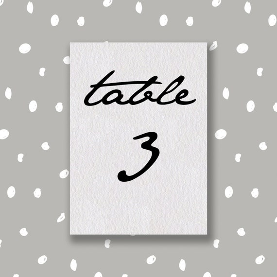 items similar to wedding table number template diy. Black Bedroom Furniture Sets. Home Design Ideas