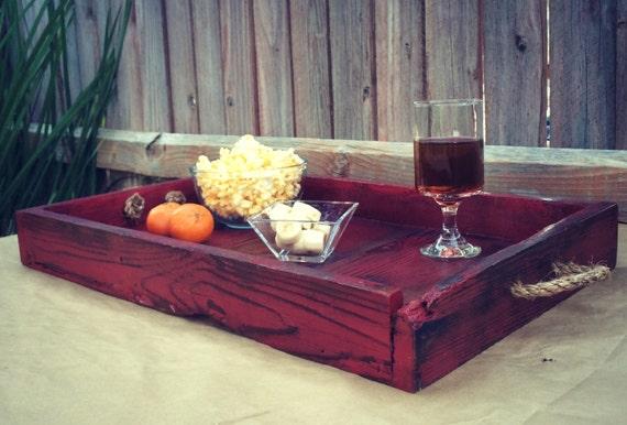 Ottoman Tray Serving Tray Rustic Tray By Ferreroartdesign
