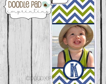 Custom Photo iPhone Case, iPhone 6 6+, Samsung S5 S6 Personalized, Choice of Chevron Colors