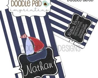 Nautical Luggage Tag, Personalized Diaper Bag Tag