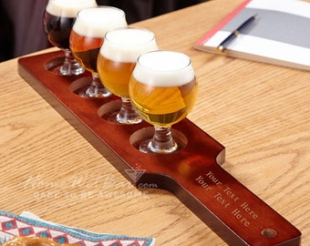 Carefully Crafted Personalized Beer Flight Set - Beer Tasting Party