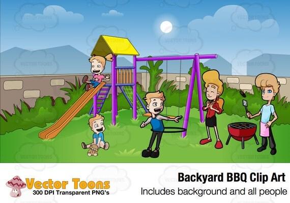 Backyard BBQ Clip Art Digital Clipart Digital Graphics