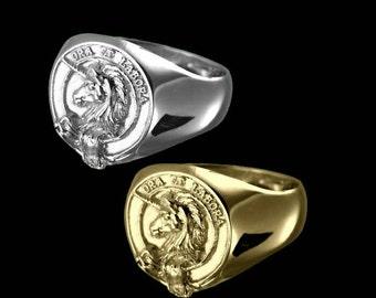 Clan Ramsay Crest Men's Signet Ring