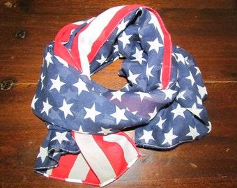 Patriotic USA Flag Scarf