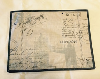 London post card placemat - set of 6