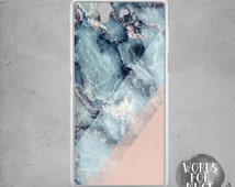 Sony Xperia Z5 compact case marble pink blue colorblock Xperia Z1 compact case marble PRINT, xperia z3 compact