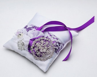 Ring pillow, Ring pillow viole,Ring pillow peach