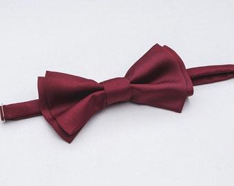 5th bow tie for FREE\festive tie Mens bow tie, Marsala Bowtie, vintage weddings