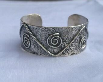 Reticulated Sterling Silver Cuff Bracelet!  Unique Original Design!