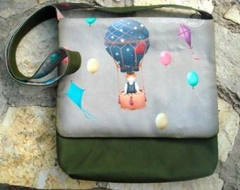 Bag child small Explorer, Khaki bottom