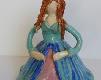 Sweet ceramic Statue homemade for charity .