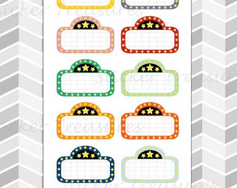 12 Movie Marquee [Planner Stickers]