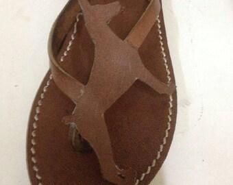 Doberman Shoes Sandals Flip flops summer gift dog