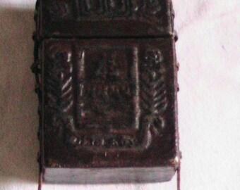 Vintage 1970's Handmade Dark Brown Leather Cigarette Case