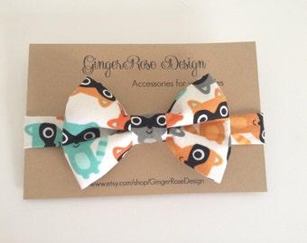 Raccoon Bow Tie; Animal Bow Tie; Boys Bow Tie; Toddler Bow Tie; Adjustable Bow Tie; Baby Bow Tie