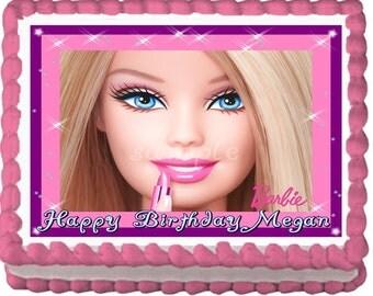 Barbie Edible Cake Topper Decoration