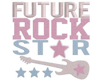 Future Rock Star machine embroidery design