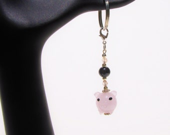 Cute Pig Cochon Keychain Keyfob Under 10 New 1st Time Driver Backpack Purse Planner Zipper Pull Charm Gift For Her Mom loUiSiAnaCre8ions