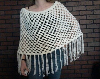 Adult Crocheted Poncho