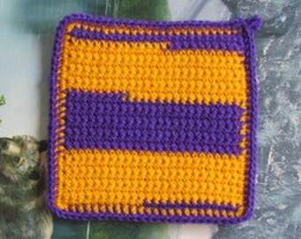 0056 Hand crochet double thick hot pad