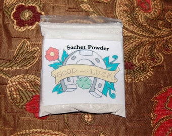 Sale! HOODOO GOOD LUCK Sachet Powder,  Attract good luck in many areas.  Good luck conjure.