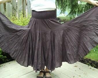 Brown Cotton Skirt