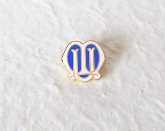 Vintage Mothers Union Badge. Enamel. Blue, White & Gold.