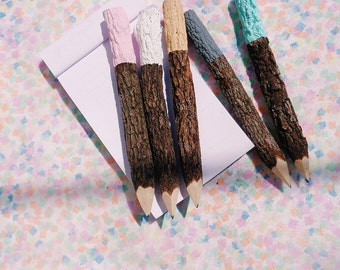 colour dipped pencils