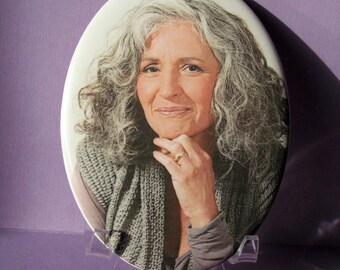 Photo Porcelain Portrait Souvenir 3.54''X4.72'' Outdoor/Indoor 9X12cm