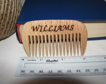 Beard Comb Personalized wooden comb Mustache Comb wooden hair comb Fathers Day Gift Comb Gift for dad Gift for him