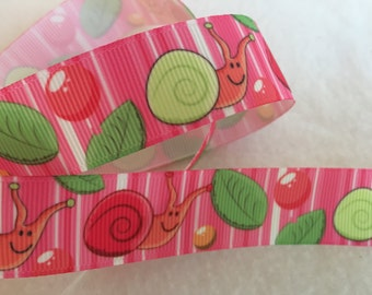 Snail Grosgrain Ribbon 7/8""