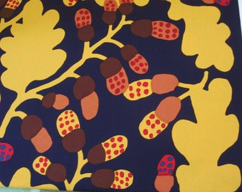 Marimekko cotton fabric, Pähkinäpuu, plum 145x50cm by Katsuji Wakisaka