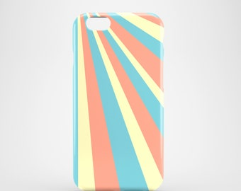 Sun Rays iPhone 6S case / pastel iPhone 7 case / iPhone 7 Plus case / geometric iPhone 6 case / womans iPhone 6 case / Galaxy S6 / iPhone 7