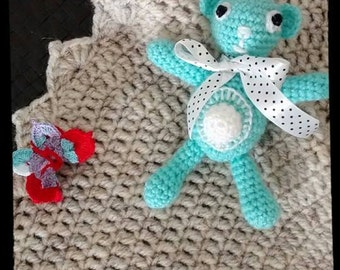 Teddy chrochet amigurumi,Hand made,fairtrade toys,child toys,kids toys,baby toys,soft toy,stuffed animals,infant toy,crochet toys,Gift