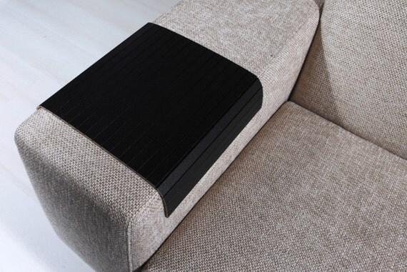sofa tablett tisch super schwarz sofa arm tray von anatolianwoods. Black Bedroom Furniture Sets. Home Design Ideas