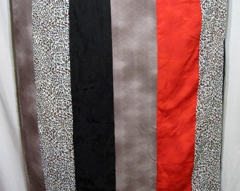 Oriental Express - Japanique Boutique Blanket Throw Vintage Japanese Kimono Fabric