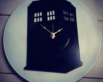 Dr. Who Tardis record clock