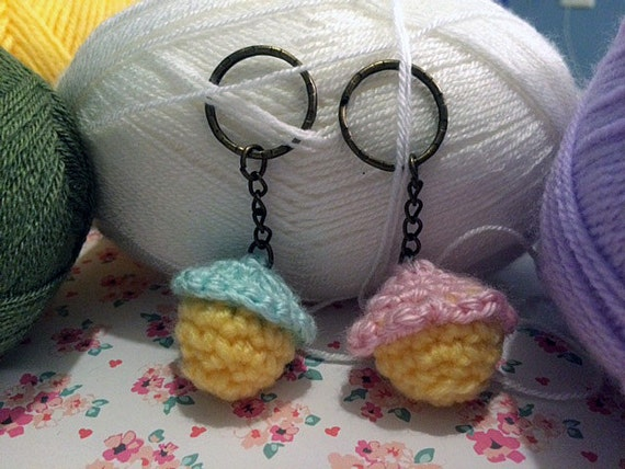 Amigurumi Cupcake Keychain by CommieCraftCorp on Etsy