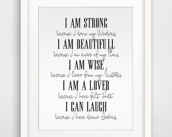 Inspirational Quote Poster Print, Wall Prints, Wall art, Printable Wall Art, Downloadable Wall Prints, Digital Art, 18 x 24 inches, A4