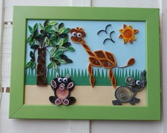 "Baby frame ""Little Jungle"""