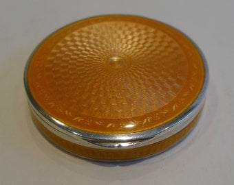 Exquisite Sterling Silver and Guilloche Enamel Box - 1925