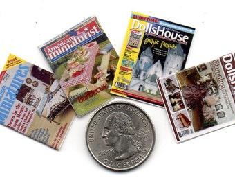 4 Miniature   'DOLLHOUSE MINIATURES'   Magazines  -  Dollhouse 1:12 scale