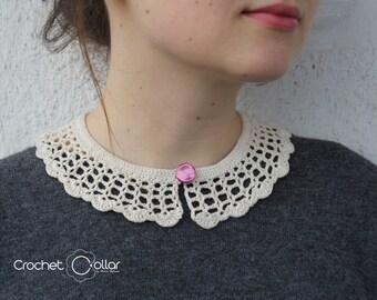 Casual Vintage Look Crochet Collar